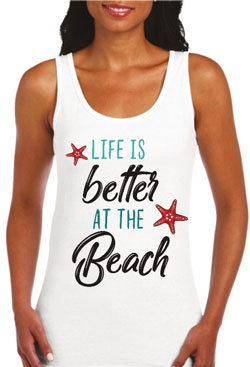 Life is better at the beach / schwarz